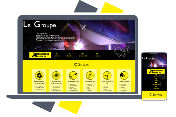 4 sites pour le groupe technique laser